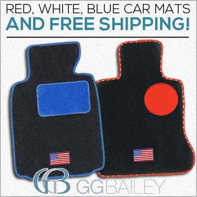 Fourth of July Car Mats