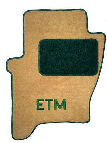 Hunter green car mat