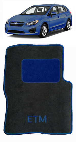 Subaru car floor mats blue