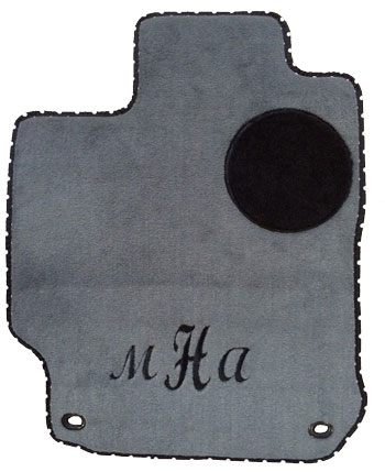 grey black car mats