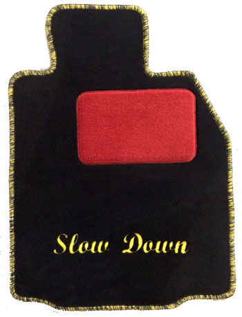 Slow down car mat