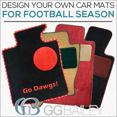 Football car floor mats