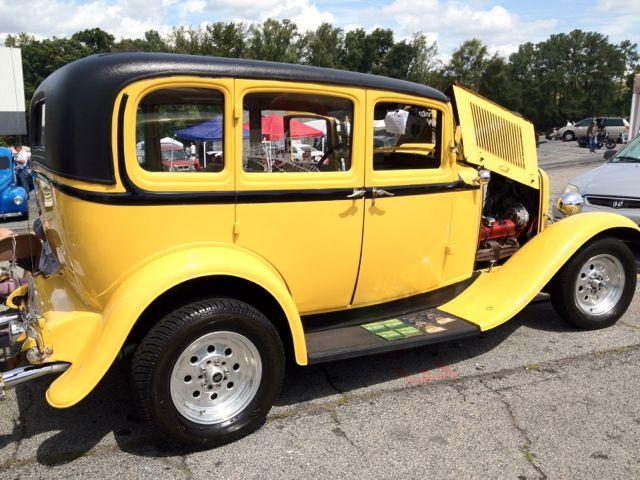 Antique Car Yellow