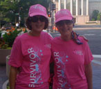 GG Bailey CEO Ginger Cannon Bailey and her sister Sarah Cannon Dietch participate in the Susan G. Komen Global Race for the Cure in Washington, D.C.
