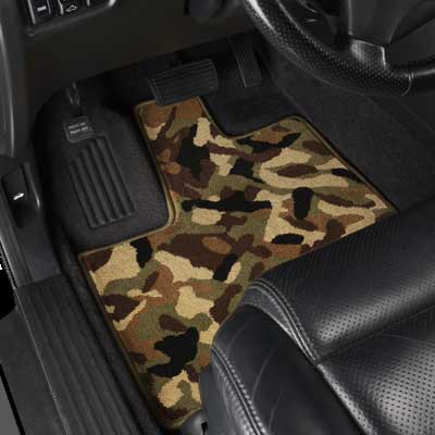 Camo Custom Car Mat from GGBailey.com