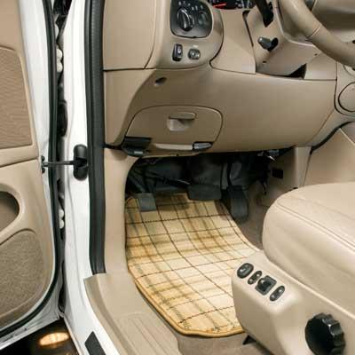 GG Bailey Car Couture custom car floor mat in Beige Plaid