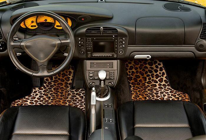 Custom Leopard Auto Floor Mats
