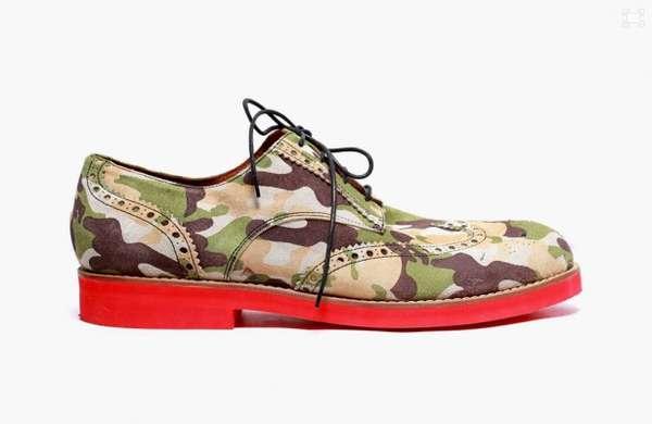 Dapper Camo Brogue Men Shoes