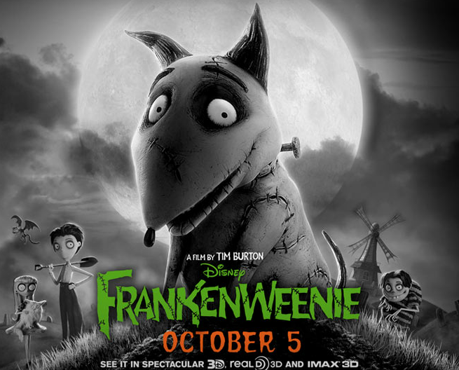 Sparky from Tim Burton's new movie Frankenweenie