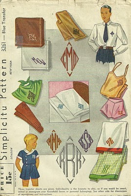 Vintage Monograms from 1930