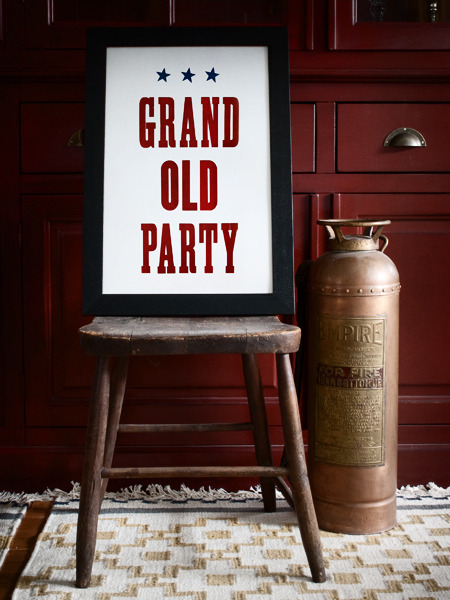 Grand Old Party Art Print from Old Try