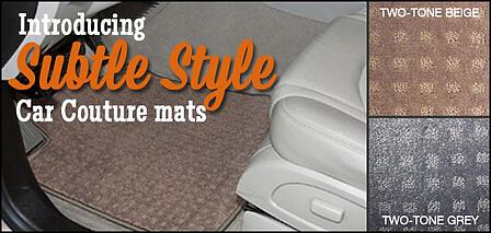subtle style two tone car mats