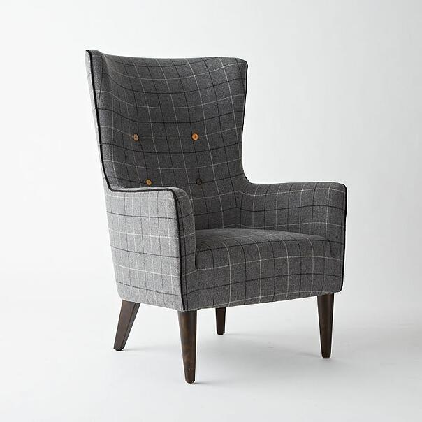 Victor Chair Buttoned, luxury furniture by West Elm
