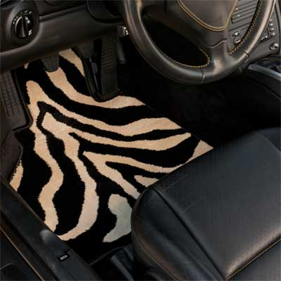 zebra print car mat from GG Bailey