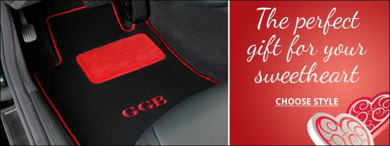 Personalized Custom Car Mats make great Valentine's Day gifts