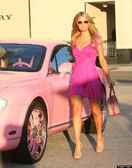 Paris-Hilton-Pink-Bentley Personalized Car Mats