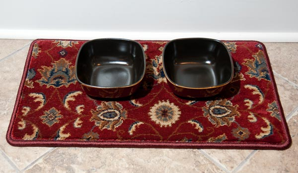 Pet Placemat in Red Oriental pattern from GG Bailey's line of Car Couture luxury carpet