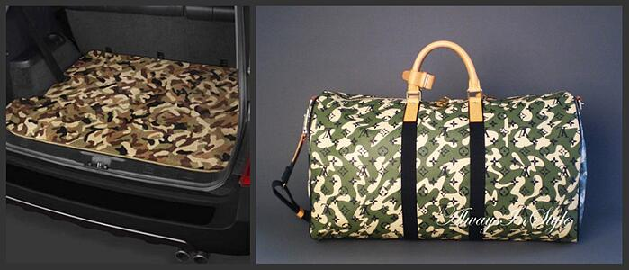 Camo Car Mat and Camo Louis Vuitton bag