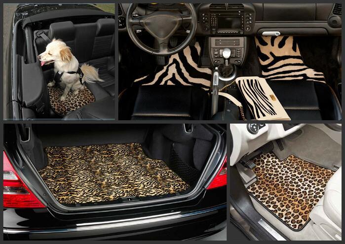 Animal print car mats