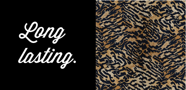 Graphic of Long-lasting woven carpet in Tiger