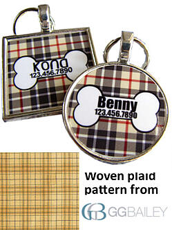 Plaid dog bone1