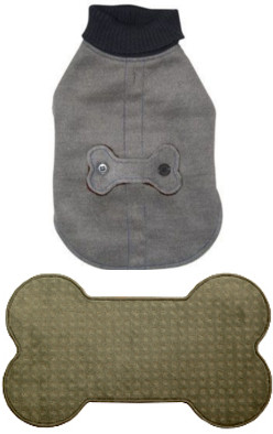 dog bone mat grey