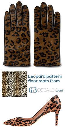 leopard pattern floor mats