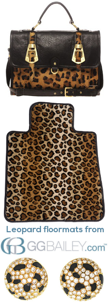Leopard floor mats pro3
