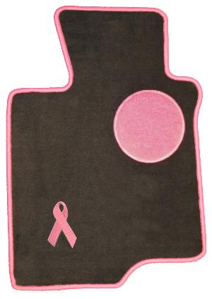 pink ribbon car floor mats