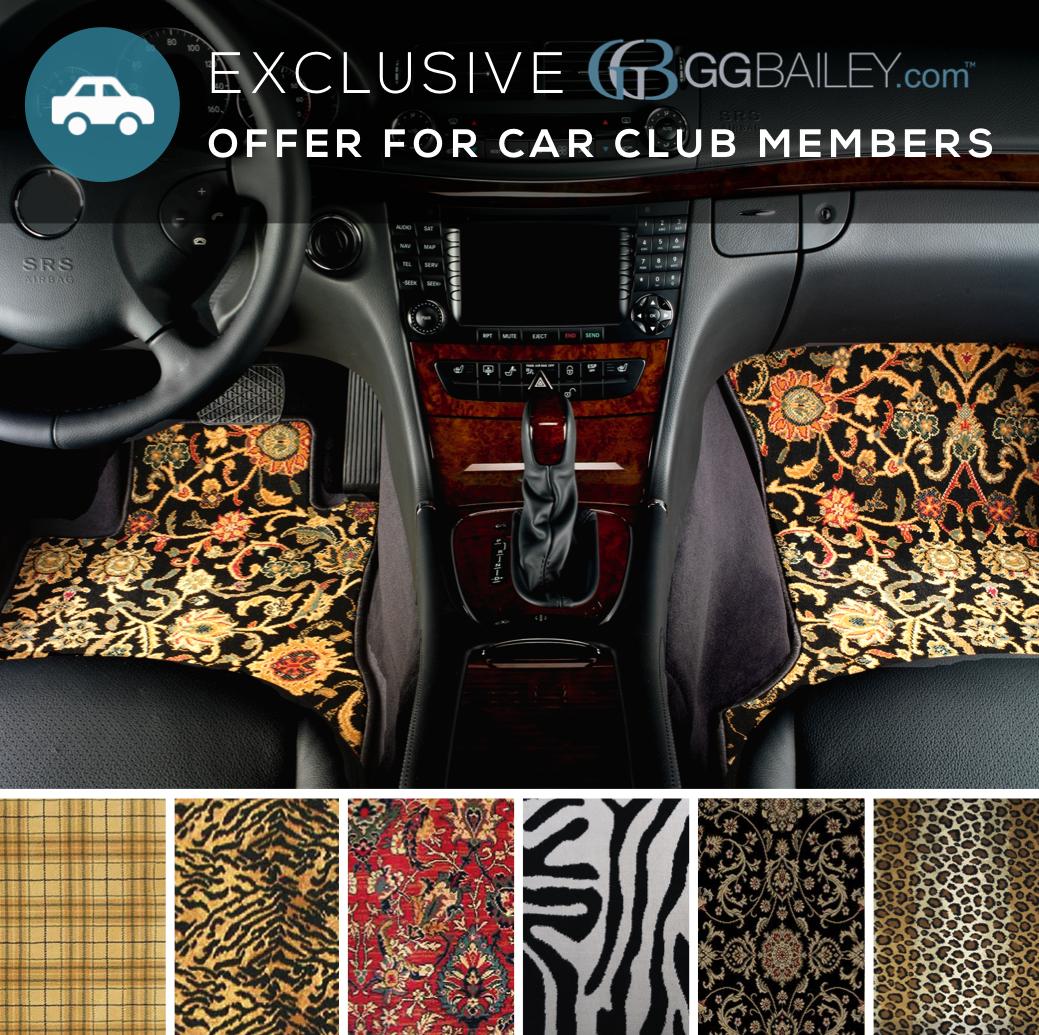 car club custom car mats