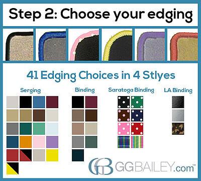 custom design car floor mats edging