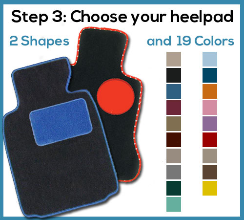 custom car floor mat heelpad