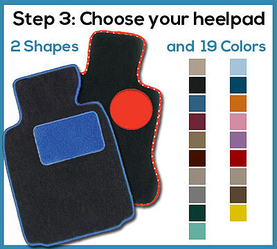 custom car floor mat heelpad