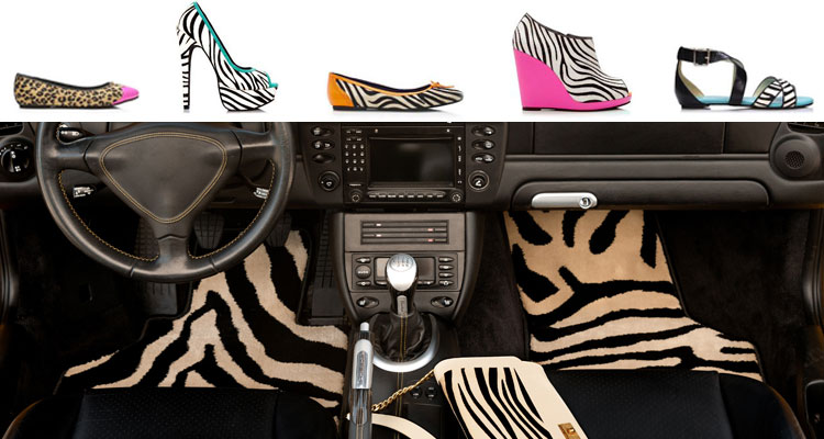zebra print shoes floor mats