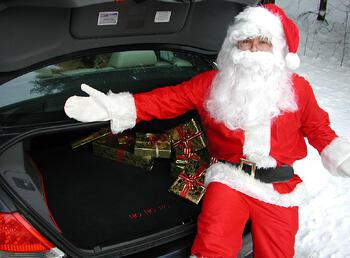 Car Trunk Mat Santa