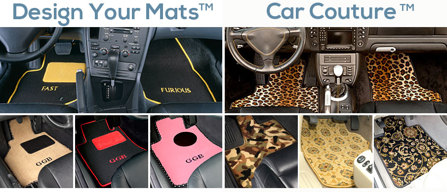 Custom designed floor mats