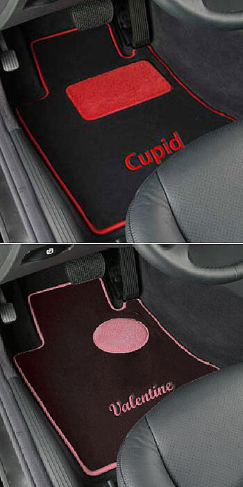 custom designed car floor mats