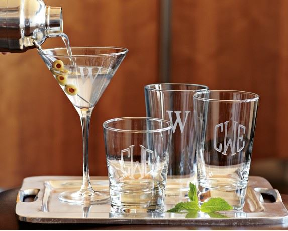 Monogram barware