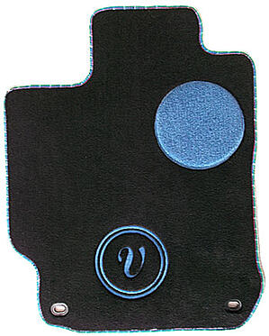 single letter monogram car mat