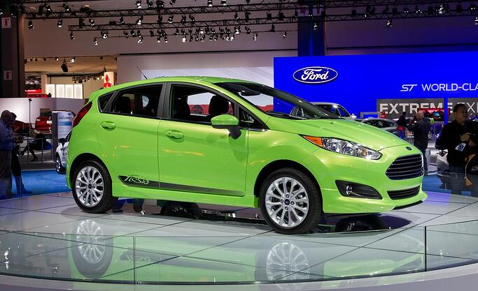 Bright green Ford Fiesta hatchback