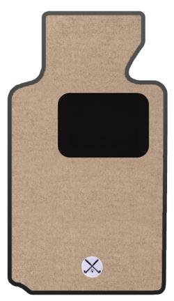 GGBAILEY beige carpet, black heelpad and golf logo