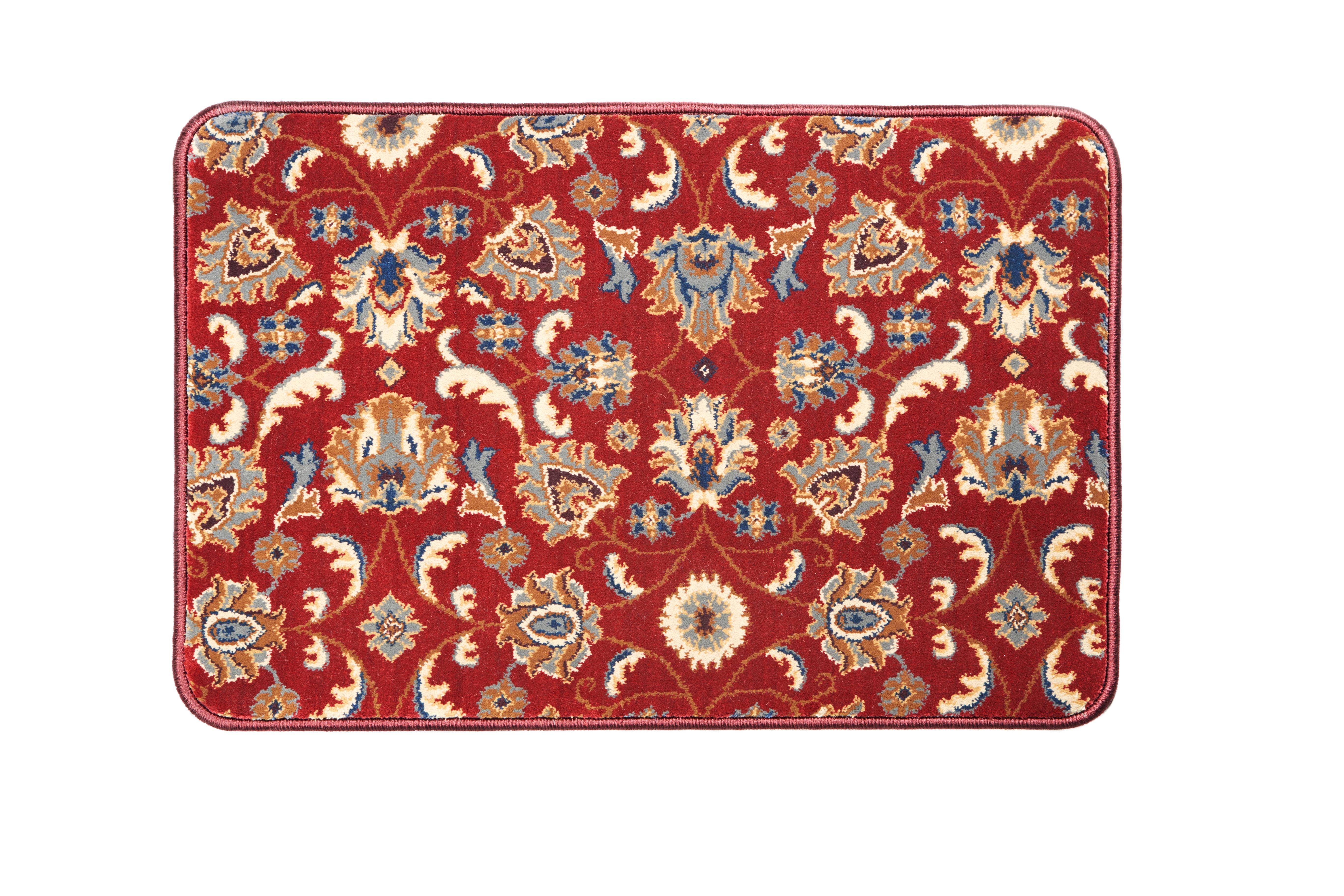 Red Oriental Home Floor Mat