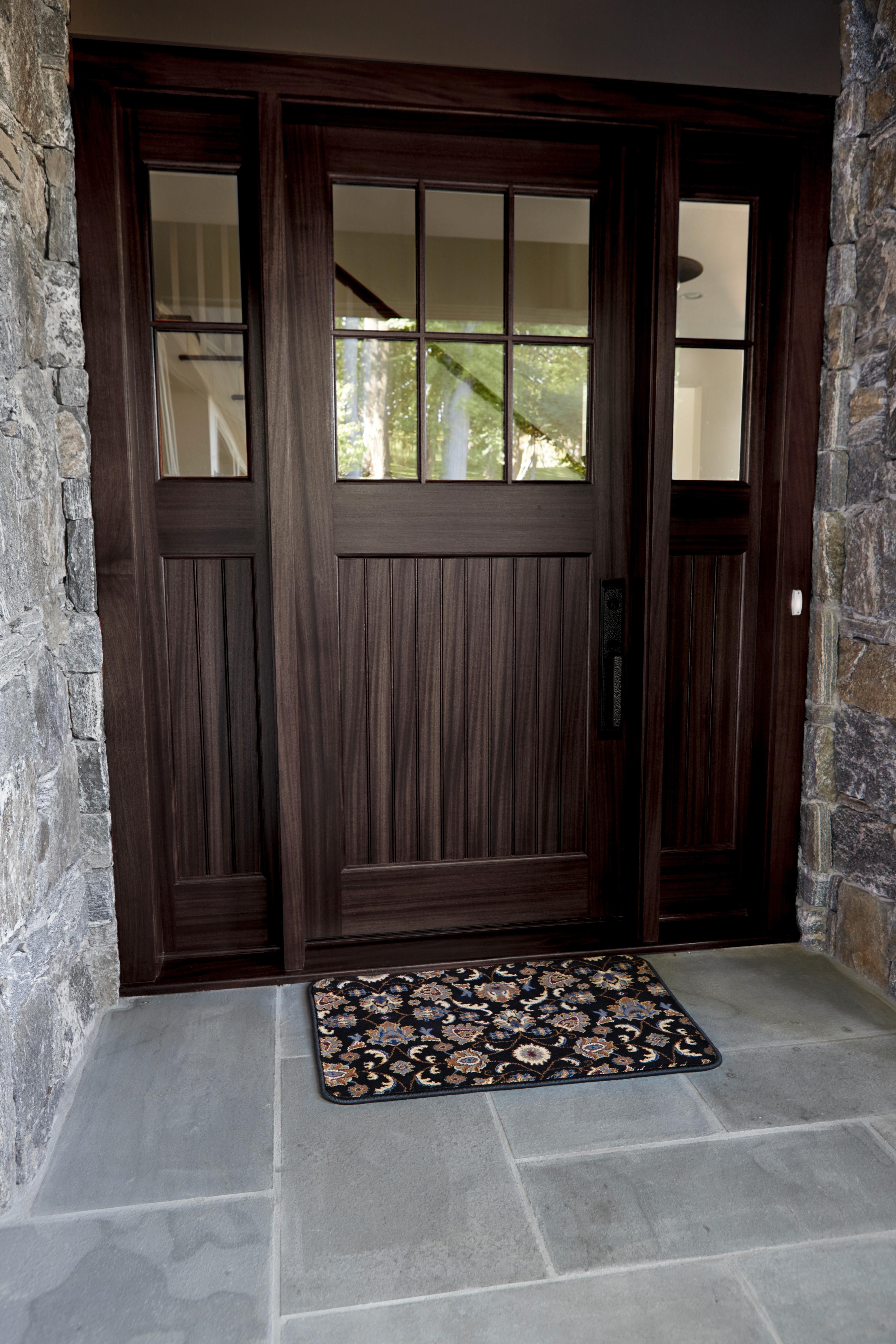 Black Oriental Home Floor Mat
