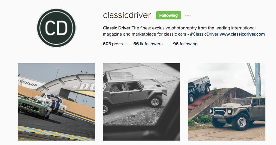 Classic Driver Instagram