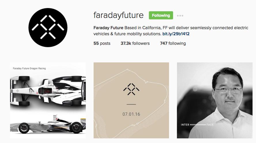Faraday Future Instagram