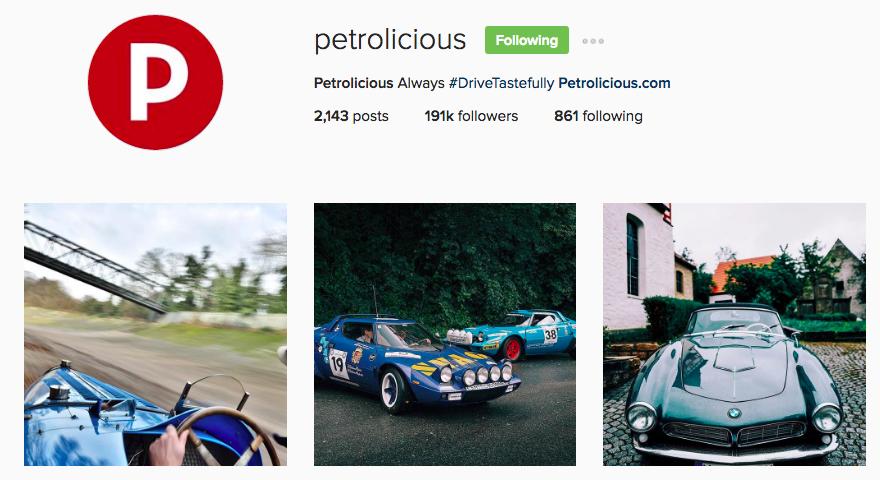 Petrolicious Instagram