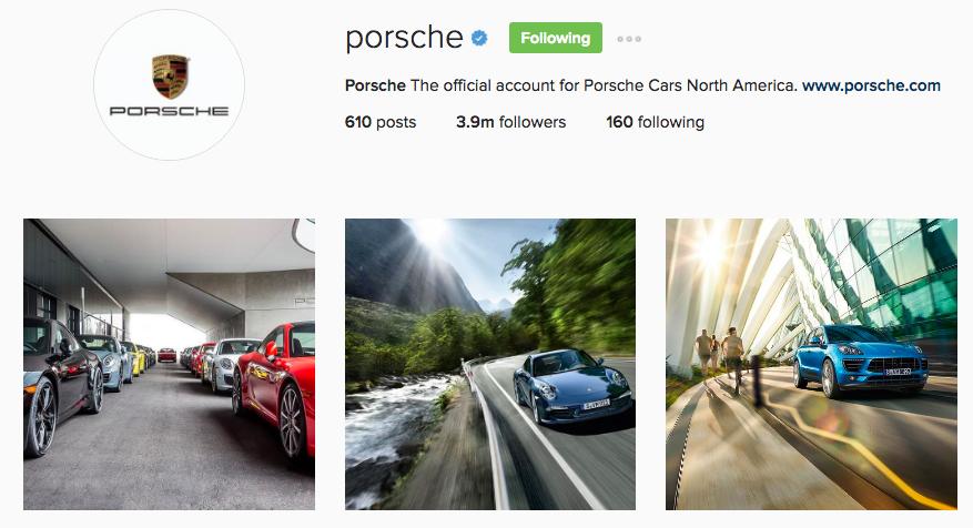 Porsche Instagram