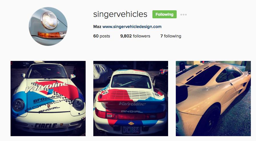 singervehicles Instagram