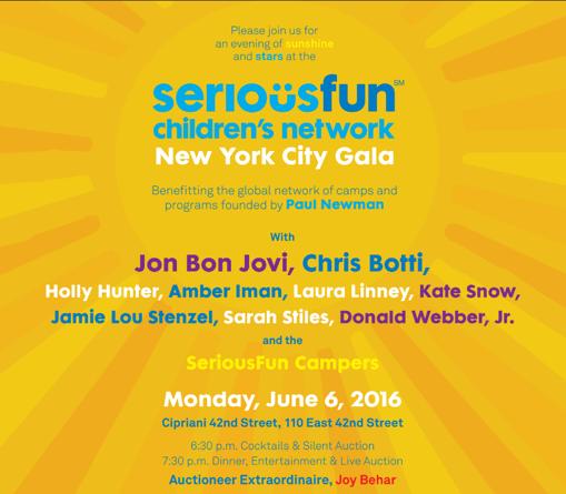 SeriousFun Children's Network Invitation