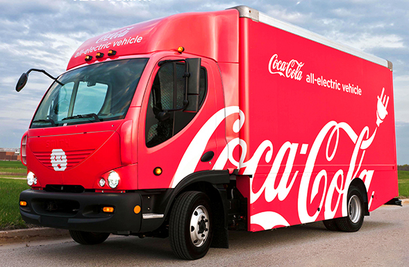 Smith Electric Vehicles Coca Cola truck
